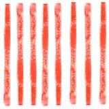 Modello senza cuciture dell'estratto dell'acquerello con le linee rosse variopinte illustrazione di stock
