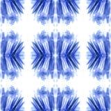Modello senza cuciture dell'estratto blu dell'acquerello, struttura senza fine, macchia blu fotografia stock