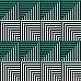 Modello senza cuciture dell'estratto di vettore fondo di ripetizione geometrico simmetrico con il rombo decorativo, triangoli DES Immagini Stock Libere da Diritti