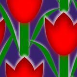 Modello senza cuciture dell'icona del fiore del tulp di netherland Fotografie Stock Libere da Diritti