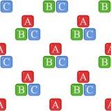 Modello senza cuciture dell'icona piana di alfabeto di ABC illustrazione vettoriale