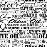 Modello senza cuciture dell'olio d'oliva Fotografie Stock Libere da Diritti