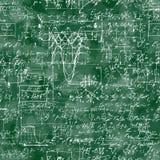 Modello senza cuciture dell'operazione matematica e dell'equazione Fotografia Stock