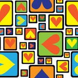 Modello senza cuciture dell'ornamento geometrico multicolore Immagine Stock