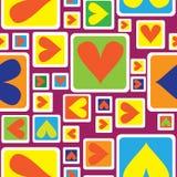 Modello senza cuciture dell'ornamento geometrico multicolore Fotografia Stock Libera da Diritti
