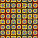 Modello senza cuciture dell'ornamento geometrico multicolore Fotografia Stock