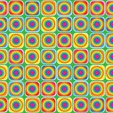 Modello senza cuciture dell'ornamento geometrico multicolore Fotografie Stock