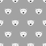 Modello senza cuciture dell'orso polare Immagini Stock Libere da Diritti