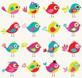 Modello senza cuciture dell'uccello del fumetto Fotografia Stock Libera da Diritti