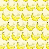 Modello senza cuciture della banana Fotografia Stock