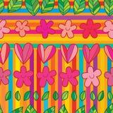 Modello senza cuciture della banda di amore del fiore della foglia illustrazione vettoriale