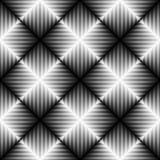 Modello senza cuciture della banda e del quadrato Sedere astratte di illusione ottica Immagini Stock