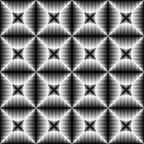 Modello senza cuciture della banda e del quadrato Sedere astratte di illusione ottica Immagine Stock