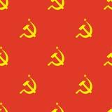 Modello senza cuciture della bandiera dell'URSS Immagine Stock Libera da Diritti