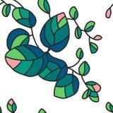 Modello senza cuciture della bella pianta royalty illustrazione gratis