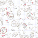 Modello senza cuciture della bicicletta Immagini Stock