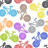 Modello senza cuciture della bicicletta a mano libera Royalty Illustrazione gratis