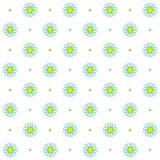 Modello senza cuciture della camomilla, progettazione floreale semplice, fondo astratto di bianco del fiore illustrazione vettoriale