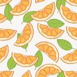 Modello senza cuciture della fetta arancio Fotografia Stock Libera da Diritti
