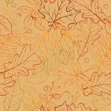 Modello senza cuciture della foglia di autunno Fotografie Stock