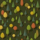 Modello senza cuciture della foresta, autunno Immagine Stock Libera da Diritti