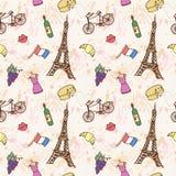 Modello senza cuciture della Francia Royalty Illustrazione gratis