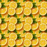 Modello senza cuciture della frutta arancio Immagini Stock