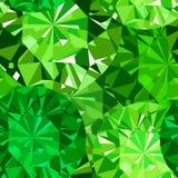 Modello senza cuciture della gemma. Fondo verde smeraldo del modello. Illustrazione Vettoriale