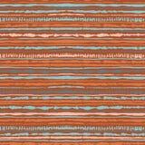 Modello senza cuciture della legame-tintura di shibori di vettore dei colori caldi Tessuti della pittura della mano - batik nodul royalty illustrazione gratis