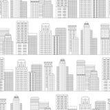 Modello senza cuciture della linea grattacieli Rebecca 36 illustrazione vettoriale