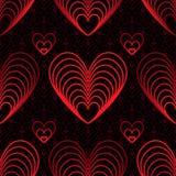 Modello senza cuciture della linea rossa di amore nove Fotografia Stock Libera da Diritti