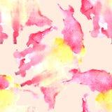 Modello senza cuciture della macchia dell'acquerello Struttura dipinta a mano dell'acquerello royalty illustrazione gratis