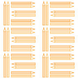 Modello senza cuciture della matita del conour del profilo Immagini Stock Libere da Diritti