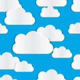 Modello senza cuciture della nuvola Immagine Stock