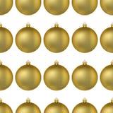 Modello senza cuciture della palla di Natale dell'oro Palla per l'albero di Natale Illustrazione di vettore decorazione realistic illustrazione di stock