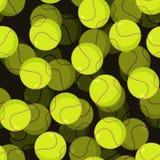 Modello senza cuciture della pallina da tennis 3d Mette in mostra l'ornamento accessorio tenn Fotografia Stock Libera da Diritti