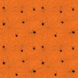 Modello senza cuciture della ragnatela di Halloween Fondo di vettore Immagini Stock Libere da Diritti