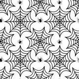 Modello senza cuciture della ragnatela Struttura ripetitiva del ragno Fondo senza fine di Halloween Illustrazione di vettore Fotografie Stock Libere da Diritti