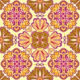 Modello senza cuciture della rappezzatura dalle mattonelle marocchine e portoghesi, Azulejo, ornamenti Fotografie Stock