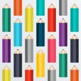 Modello senza cuciture della scuola con le matite Immagini Stock Libere da Diritti