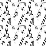 Modello senza cuciture della siluetta della scala. vettore illustrazione di stock