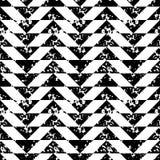 Modello senza cuciture della spugna della stampa di lerciume geometrico in bianco e nero dei triangoli, vettore Fotografia Stock Libera da Diritti