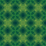 Modello senza cuciture della stampa Mandala Flowers con fondo verde Immagini Stock