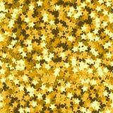 Modello senza cuciture della stella d'oro Fondo di festa, modello senza cuciture con le stelle Fotografie Stock Libere da Diritti