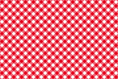 Modello senza cuciture della tovaglia rossa diagonale Fotografia Stock
