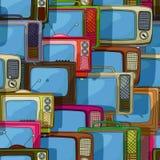 Modello senza cuciture della TV Fotografia Stock