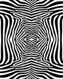 Modello senza cuciture della zebra Fotografia Stock