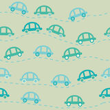 Modello senza cuciture delle automobili sveglie Fotografia Stock Libera da Diritti