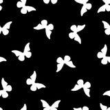 Modello senza cuciture delle farfalle bianche Fotografie Stock Libere da Diritti
