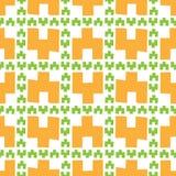 Modello senza cuciture delle figure geometriche arancio fotografia stock